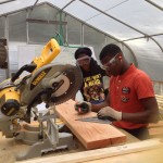 GJC-Arianna and Freddy cutting wood