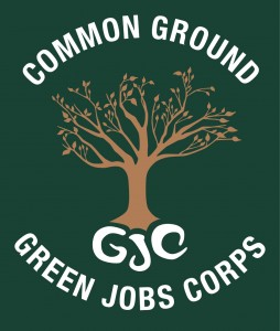 The Green Jobs Corps logo, designed by student Isabella Torres, class of '16