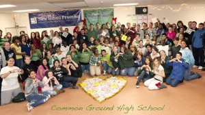 On December 21st, Common Ground students gathered to express their solidarity with the students of Sandy Hook Elementary School.