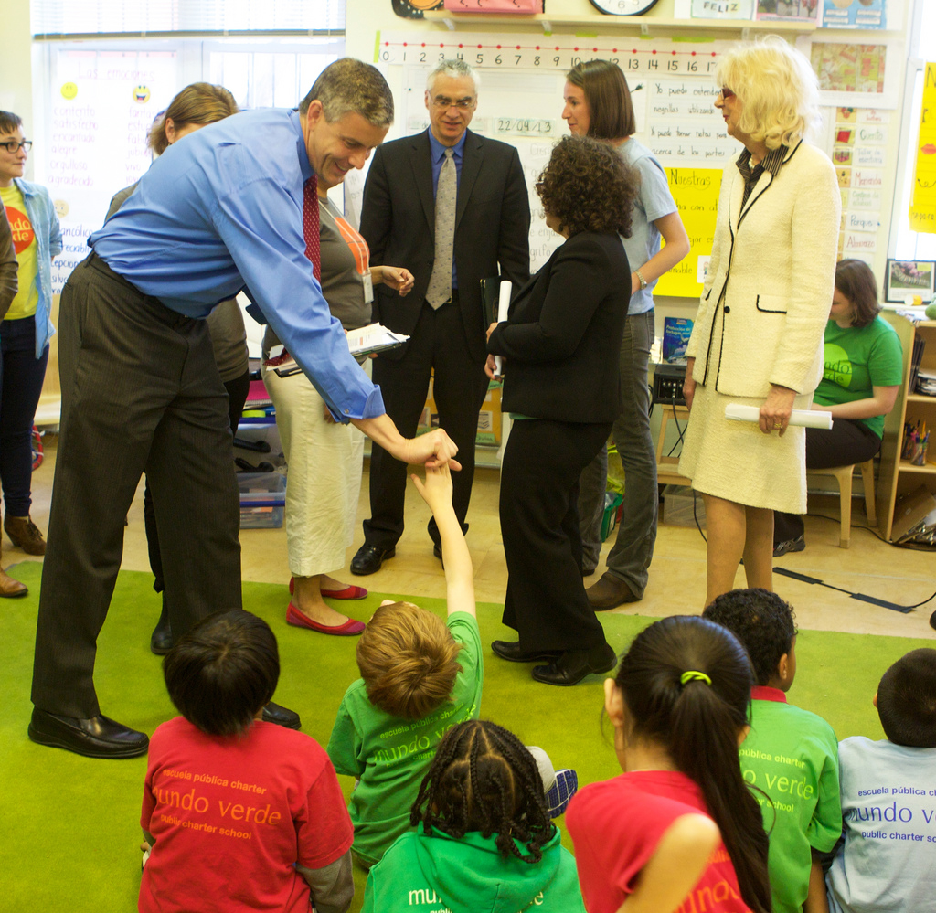 Secretary Duncan kicked off Earth Day today by announcing the 2013 U.S. Department of Education Green Ribbon Schools and District Sustainability Awardees. Official Department of Education photo by Paul Wood.