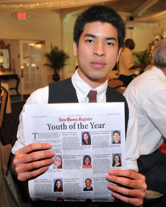 New Haven--Common Ground High (New Haven) senior Wasurut Vihokrut during the New Haven Register Youth of the Year banquet.