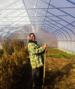 Terrance Walker, once a student at Common Ground, now helps to run key aspects of the farm.