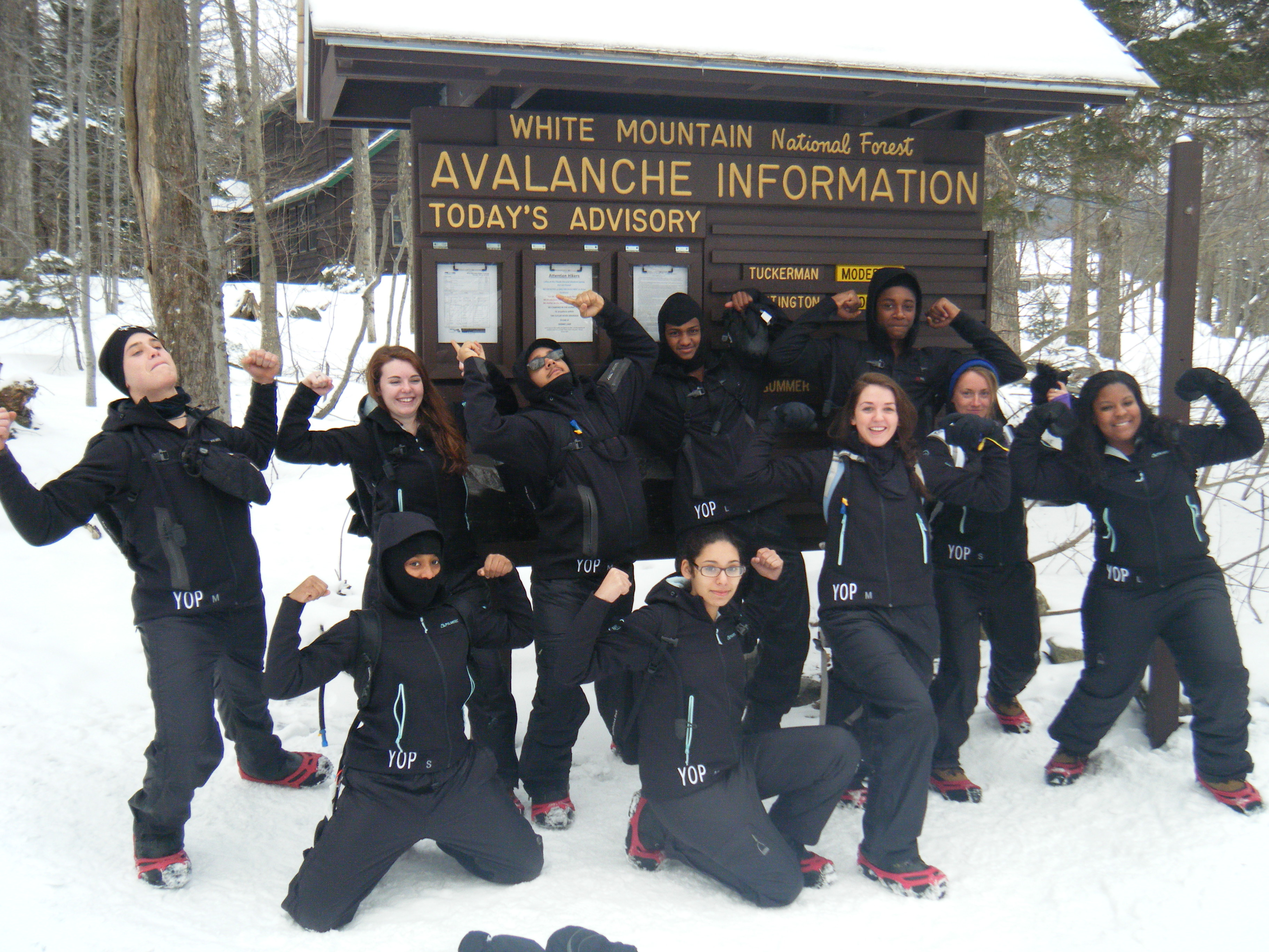 Students enjoy Adventure's Club most recent trip to the White Mountains.