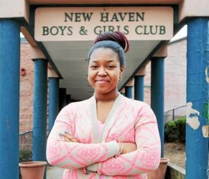 Moshema Hull of New Haven, 16, the 2014 Boys & Girls Club Local Youth of the Year at the New Haven Boys & Girls Club recently.