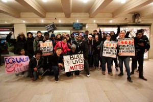 Common Ground students and staff at the Millions March in NYC. Photo courtesy of Chris Randall/ilovenewhaven.org