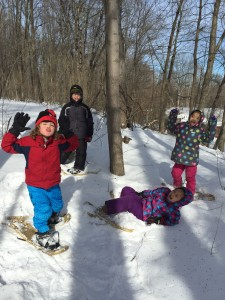 Feb Vacation Camp Snowshoe kids