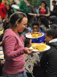 Common Ground offers free lunch to all students. Those who eat school lunch on a daily basis eat significantly more vegetables than their peers who do not.