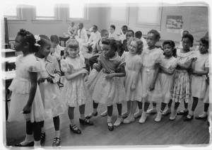 School integration. Barnard School, Washington, D.C. 1955 (Courtesy of Library of Congress)