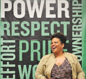 "Akiima Price, who """"I use nature as a medium to create social change in urban communities of color,"" was Common Ground's 2015 Environmental Leader in Residence."