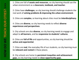 What does it mean to teach our cities? Click on the image to enlarge.