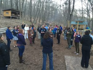 Environmental Educators from across New England gather in Common Ground's outdoor classroom. Their common question: How do we need to change as individuals, organizations, and systems to support a new, more diverse generation of EE leaders?